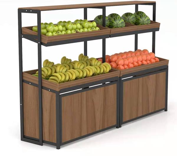 兰州展柜定做超市货柜,水果展示柜